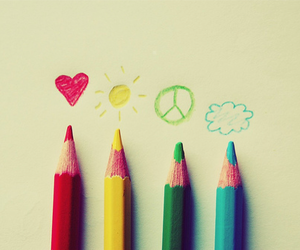 peace, sun, and colors image