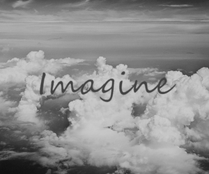 imagine, sky, and black and white image