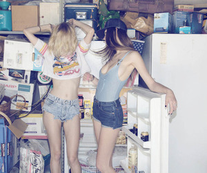 girl, friends, and skinny image