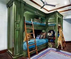 bedroom, bunk beds, and inspiration image