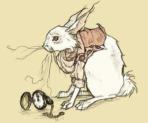 rabbit, alice in wonderland, and art image
