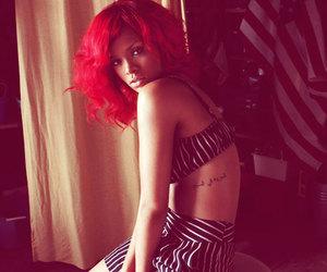 rihanna, tattoo, and red hair image