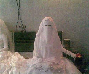 white and veil image