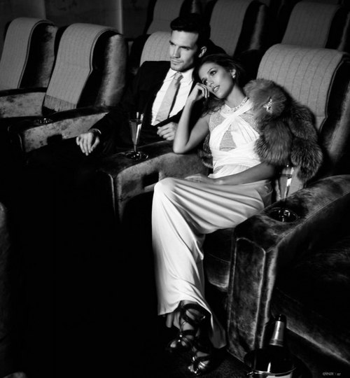 couple, luxury, and black and white image