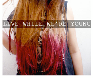 hair, ombre, and young image