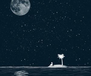 moon, Island, and night image