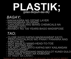 like, plastic, and typography image