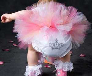 baby, pink, and princess image