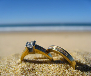 beach, diamond, and gold image