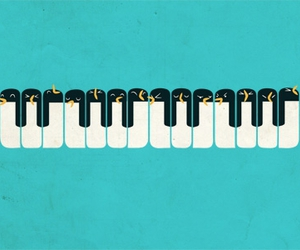 penguin and piano image