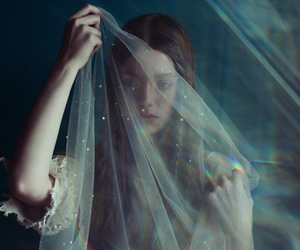 d, dress, and ethereal image