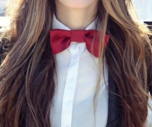 girl, red, and bow image