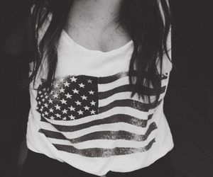 usa, girl, and black and white image