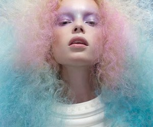 hair, pastel, and photography image