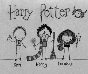 harry potter, hermione, and ron image