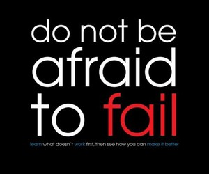 quote, fail, and afraid image