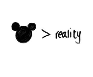 disney, reality, and mickey image