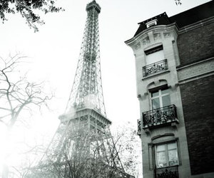 black and white, paris, and photographie image