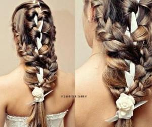 art, beautiful, and braid image