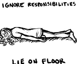 responsibilities and lie on the floor image