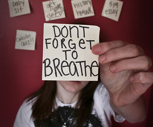 breathe and forget image