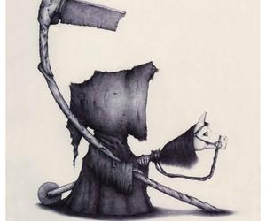 grim reaper, cute, and art image