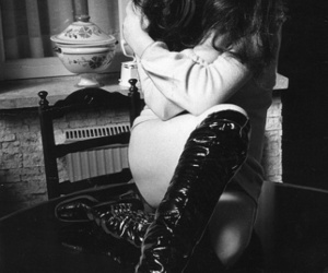 60's, hair, and boots image