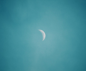 moon, sky, and blue image