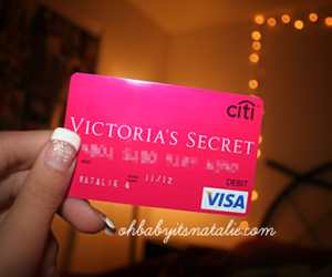 Victoria's Secret, pink, and visa image