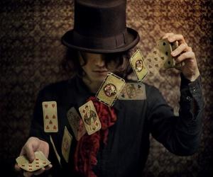 cards, magic, and magician image