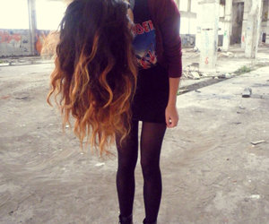 hair, girl, and legs image