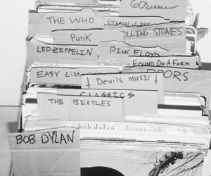 the beatles, the who, and bob dylan image