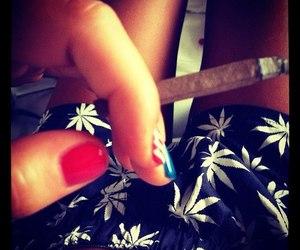 ganja and smoke image