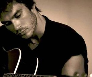 ian somerhalder, guitar, and ian image