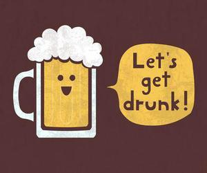 illustration, cute, and beer image
