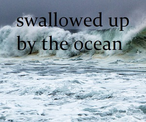 beach, storm, and text image