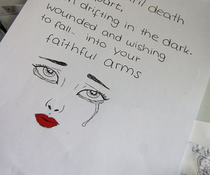 art, crying, and billy talent image