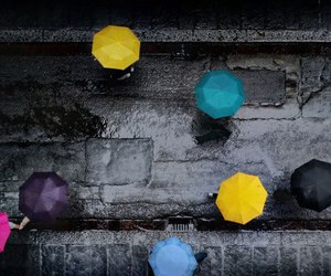 umbrella, rain, and photography image