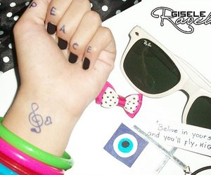 peace, glasses, and music image