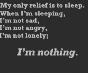 sleep, nothing, and sad image