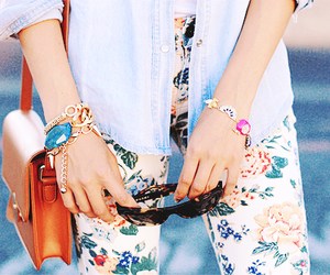 asian, bag, and blouse image