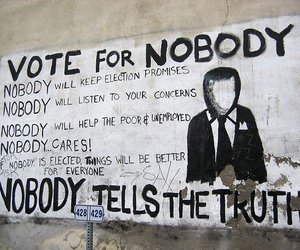 nobody, vote, and truth image