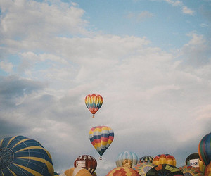 sky, balloons, and clouds image
