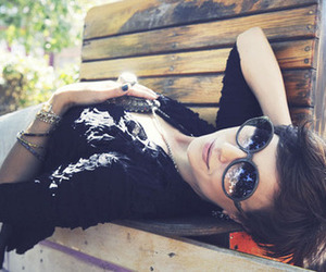 girl, shades, and style image