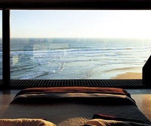 sea, bed, and beach image