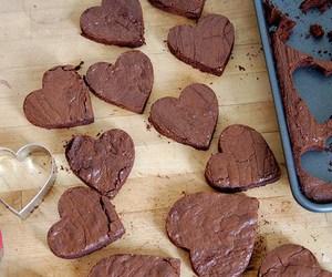 chocolate, food, and heart image