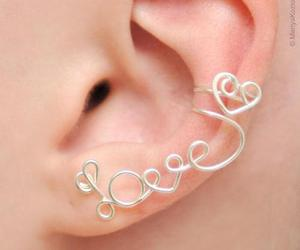 love, earrings, and heart image
