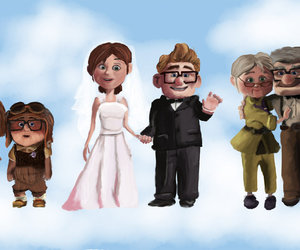 carl and ellie, pixar couples, and susanna hotchkiss image