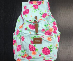 bag, pink, and flowers image