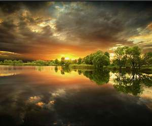 beauty, clouds, and water image